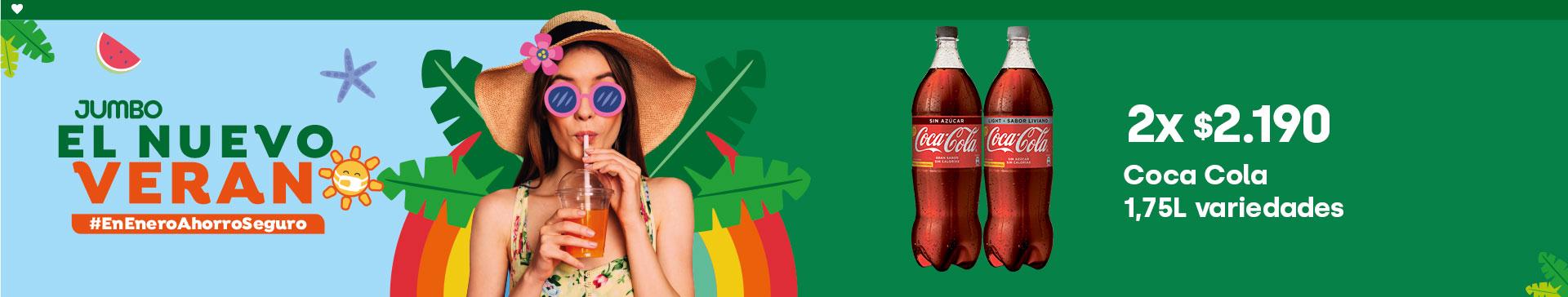 Coca Cola 1,75L variedades 2x $2.190